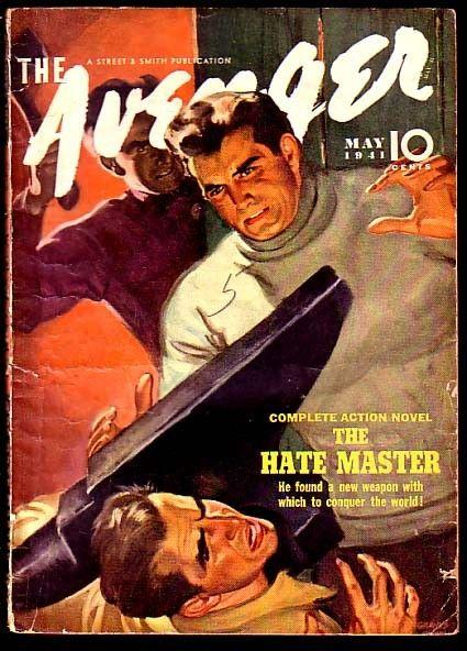 THE AVENGER-MAY 1941-THE HATE MASTER-COOL!!! VG