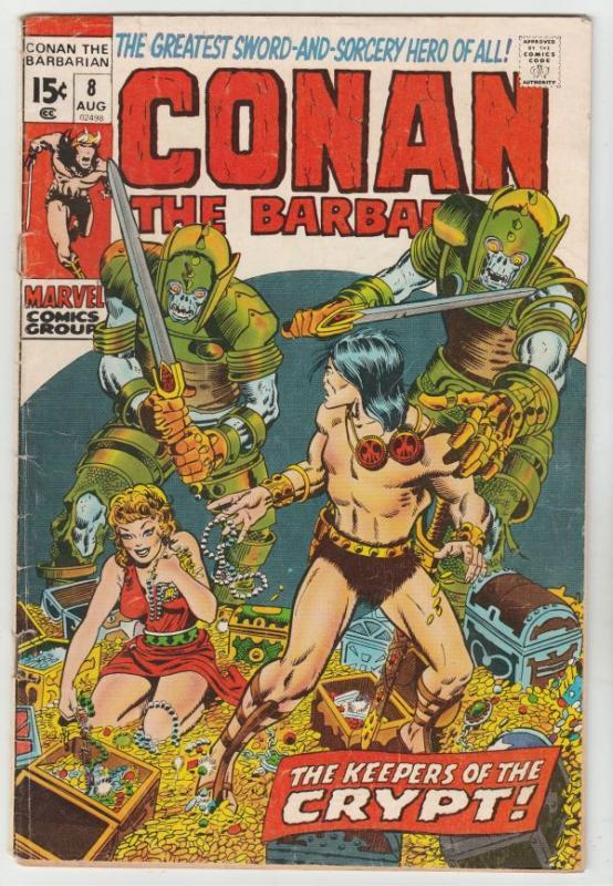 Conan The Barbarian #8 (Aug-71) VG/FN Mid-Grade Conan the Barbarian