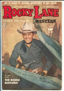 Rocky Lane Western #20 1950-Fawcett- B-Western movie star photo cover-VG+