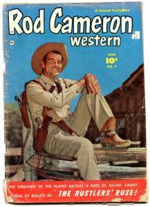 Rod Cameron Western #9-1951-Fawcett-photo cover F/G