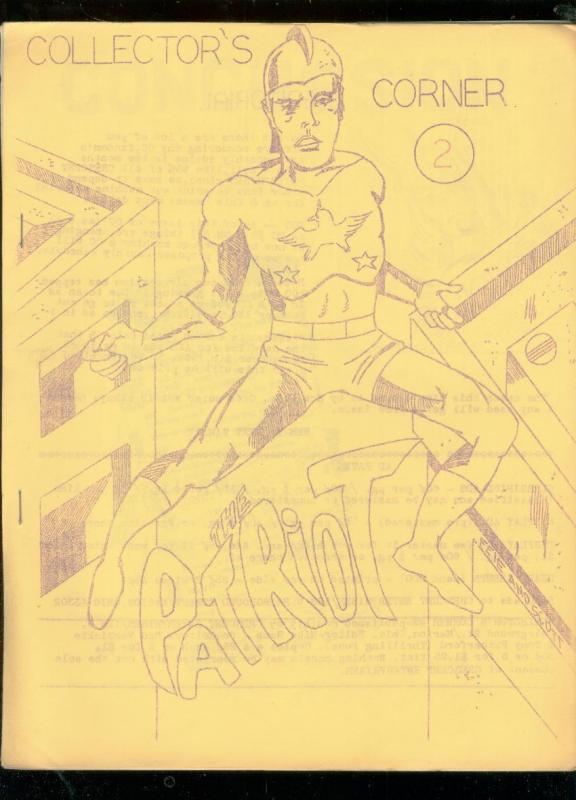 COLLECTOR'S CORNER FANZINE #2-ADS FOR COMICS & FANZINES FN
