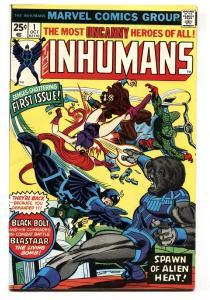 INHUMANS #1-comic book vf+ BLACK BOLT- MARVEL BRONZE AGE