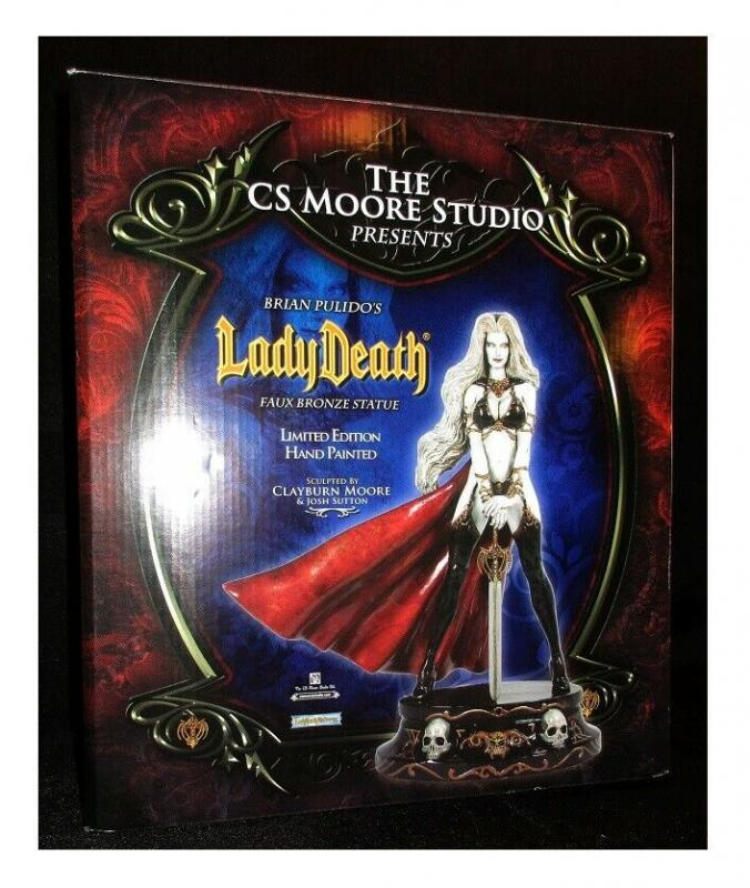 Lady Death White Faux Bronze Statue by Clayburn Moore Ltd Edition #84/200 MIB