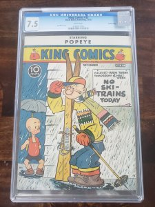 King Comics 33 CGC 7.5 white pages Central Valley Pedigree (old Pedigree label)