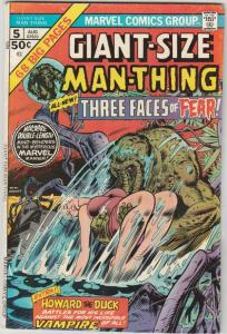 Giant-Size Man-Thing #5 (Aug-75) VG/FN Mid-Grade Man-Thing