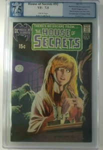 1971 DC~The House of Secrets #92 ~ PGX 7.5 (VF-), 1st Appearance of Swamp Thing