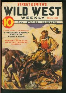 WILD WEST WEEKLY 1936 DEC 5-STREET AND SMITH-PETE RICE VG