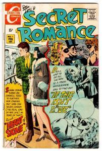 Secret Romance #5 1970-Charltonmasquerade cover-fantastic poses-vg