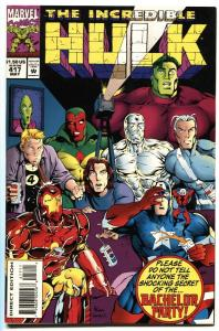 Incredible Hulk #417-Infamous risque stag film issue! NM-