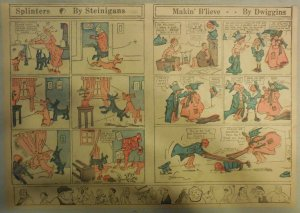 Splinters (The Clown) and Makin' B'Lieve Sunday Page from 1905 Half Page Size!