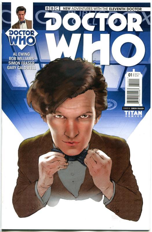 DOCTOR WHO #1 B, NM, 11th, Tardis, 2014, Titan, 1st, more DW in store, Sci-fi