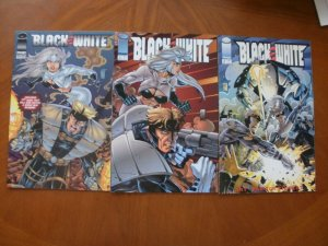 3 Image Comics BLACK & WHITE Comic #1 #2 #3 (1994) Thibert (Justice)