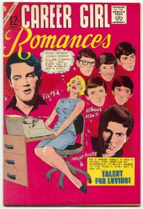 Career Girl Romances #32 1966- RARE ELVIS COVER- Hermans hermits