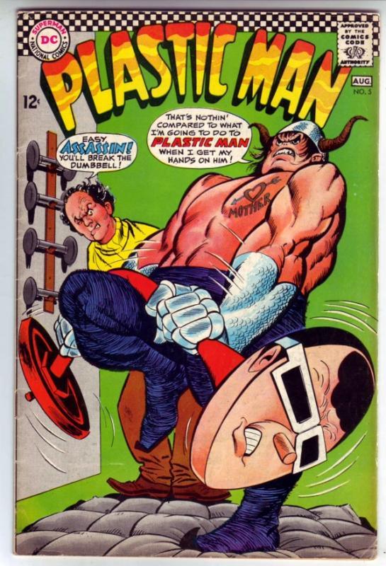 Plastic Man #5 (Jul-67) FN+ Mid-Grade Plastic Man