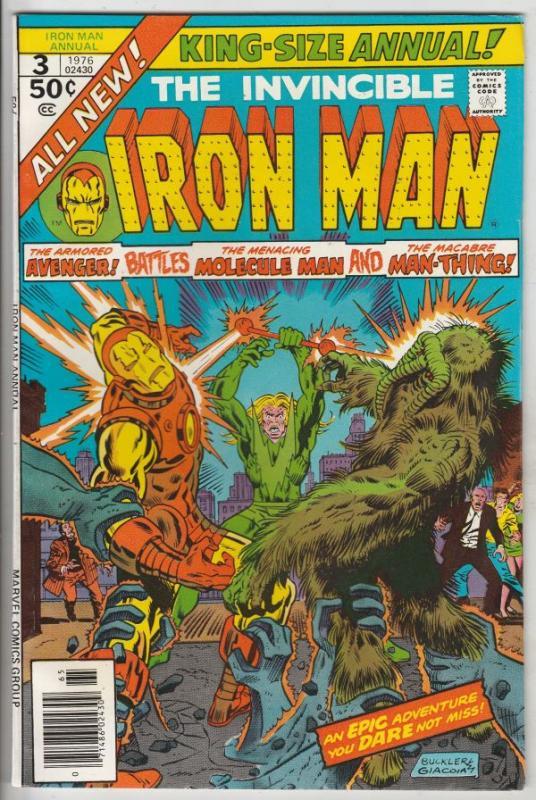 Iron Man Annual #3 (Jan-76) NM- High-Grade Iron Man
