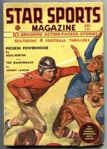 Star Sports Pulp January 1938- Pigskin Powerhouse VF-