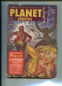 Planet Stories Pulp November 1951- Swordsman of Lost Terra by Paul Anderson G
