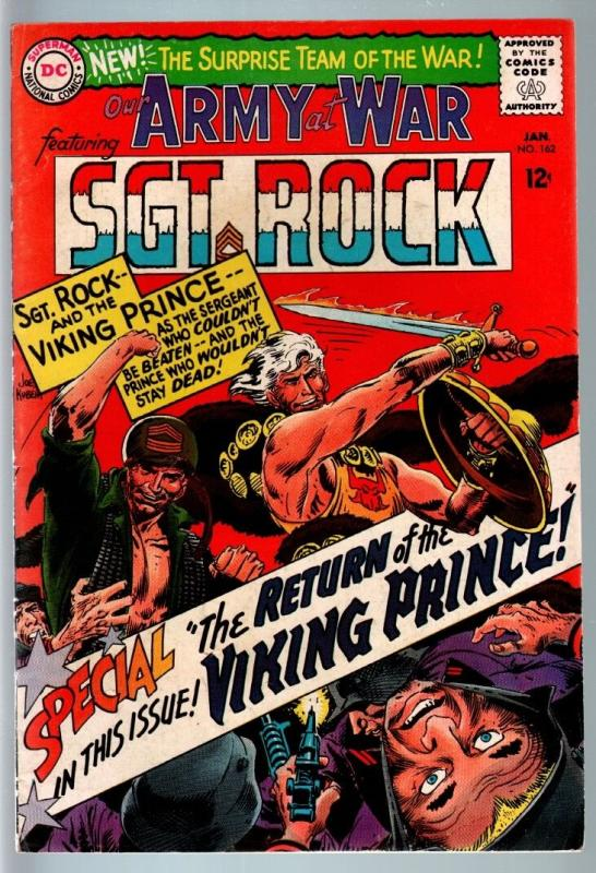 OUR ARMY AT WAR #161 1965-DC WAR COMIC-SGT. ROCK-VIKING PRINCE-FN FN