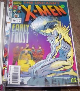UNCANNY X-MEN #314 COMIC early frost    MARVEL professor x