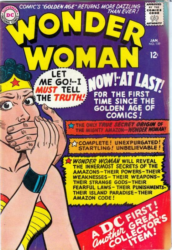 Wonder Woman #159 (Jan-66) VG/FN Mid-Grade Wonder Woman
