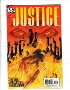 JUSTICE #3  VF/FN  ALEX ROSS ARTWORK.   DC COMICS Save on shipping