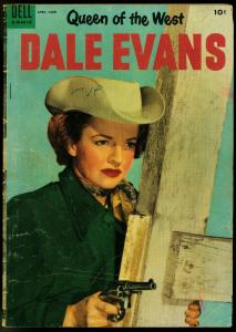 Queen of the West Dale Evans #7 1955-Photo cover- Russ Manning pr