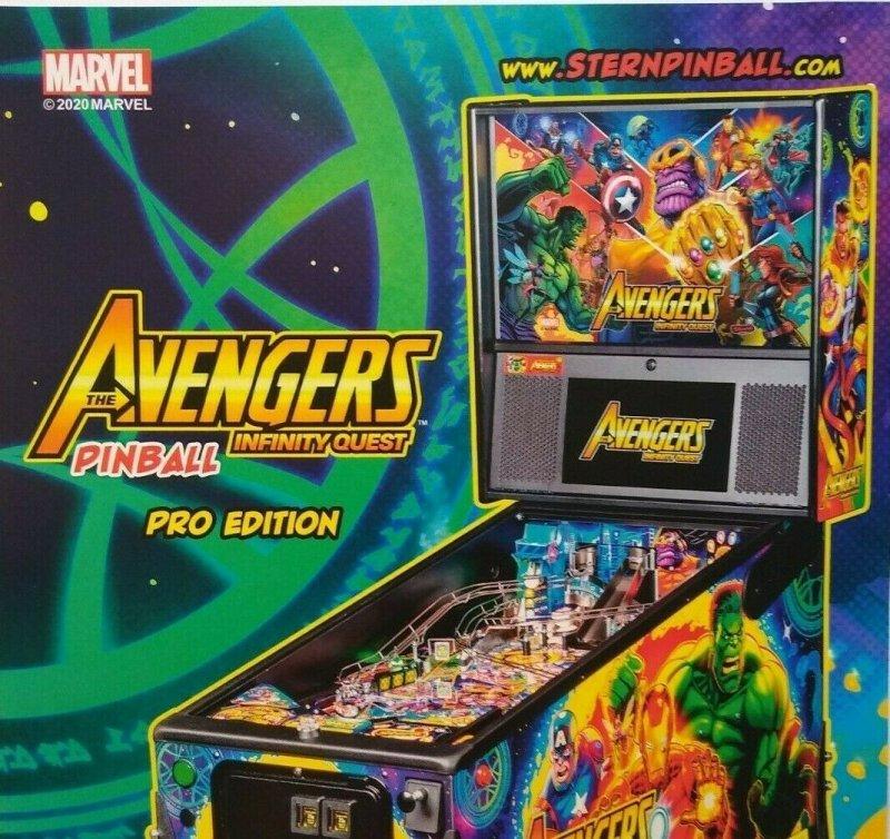 Avengers Infinity Quest Pinball Flyer Marvel Comic Incredible Hulk Art Print Pro