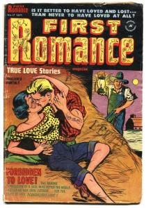 First Romance #17 1952- Forbidden Love!- Great cover vg-