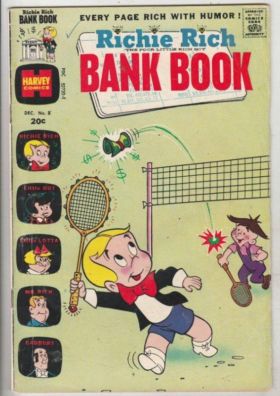 Richie Rich Bank Book #8 (Dec-73) VG- Affordable-Grade Richie Rich