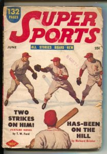 Super Sports 6/1951-Columbia-Baseball cover-Basketball-boxing-auto racing-hor...
