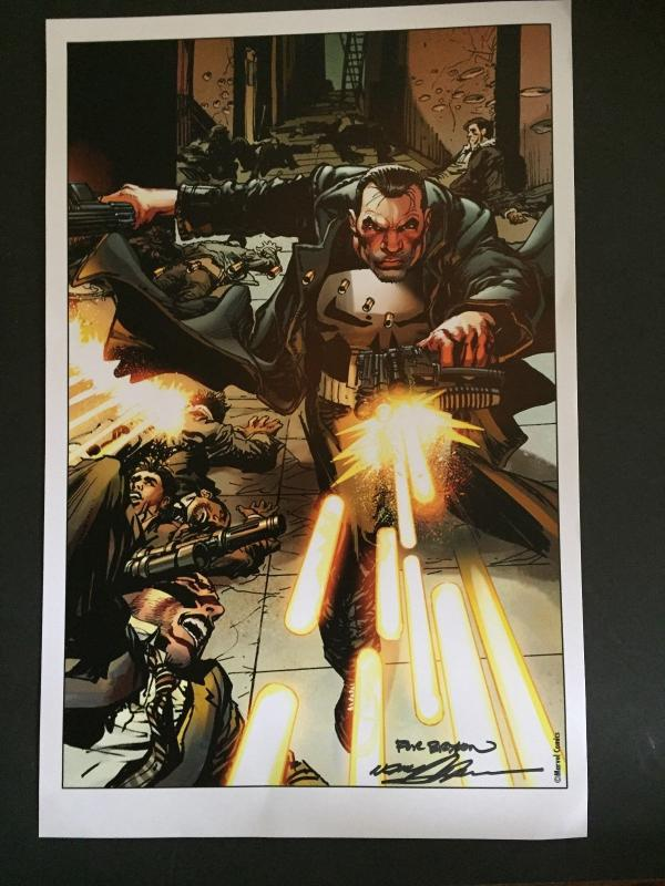 NEAL ADAMS SIGNED- PUNISHER- LAMENATED ART WORK-WONDER-CON HOLLYWOOD