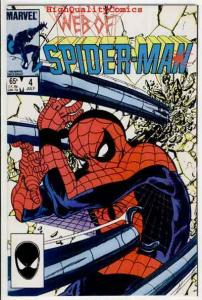 WEB of SPIDER-MAN #4,  NM+, Doctor Octopus, Webbing, 1985, more in store