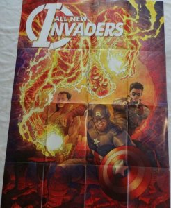 ALL NEW INVADERS Promo Poster, 24 x 36, 2013, MARVEL Captain America, Unused 283