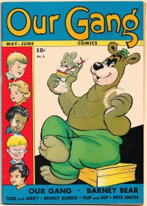 Gorgeous Copy! OUR GANG #5 (May1943) 8.0 VF  * 16 pgs of WALT KELLY + 2 Covers!