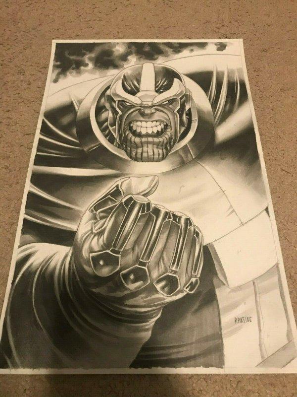 Thanos - Original Art by Ryan J. Pasibe