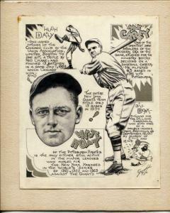 Ray Gotto Original Sporting News Art- Carey-Hugh Daily-Hoyt -Doak