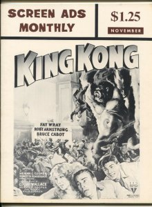 Screen Ads Monthly #2 1967-repros of vintage movie posters & ads-King Kong-FN-