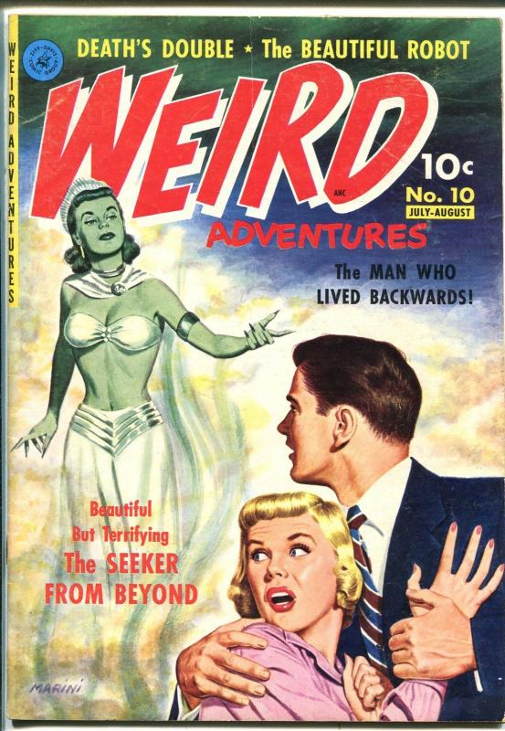 Weird Adventure #10 1951-Ziff-Davis-1st issue-Green Girl-pre-code horror-VF-