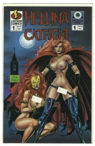 Hellina/Catfight #1 NUDE EDITION w/ COA - Lightning Comics/Insomnia Press - 1995