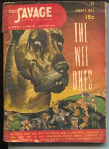 Doc Savage 8/1945- The Wee Ones-hero pulp-VG-