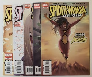 Spider-woman Origin #1-5 Complete Set Marvel Comics 2006 VF/NM Or Better