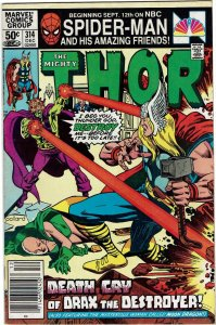 Thor #314 (1966 v1) Tony Stark Origin of Drax & Moondragon Newsstand FN+