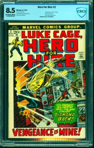Hero For Hire #2 CBCS VF+ 8.5 Off White to White Marvel Comics Luke Cage