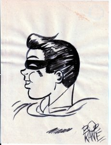 Autographed Bob Kane Original Artwork(No C.O,A.)