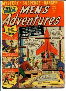 Men's Adventures #8 1951-Atlas-mystery-suspense-crime-danger-Russ Heath art-VG-