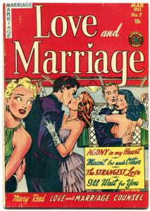 Love and Marriage #7 1953- Spicy cover art- Strangest Love VG