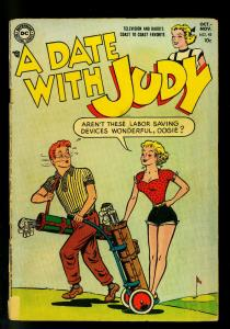 Date with Judy #43 1954- Golf cover- DC Humor- G