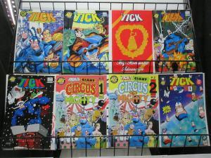 Tick (New England Comics 1989-98) Lot of 8Diff Spoon! Superhero Funnies w Arthur