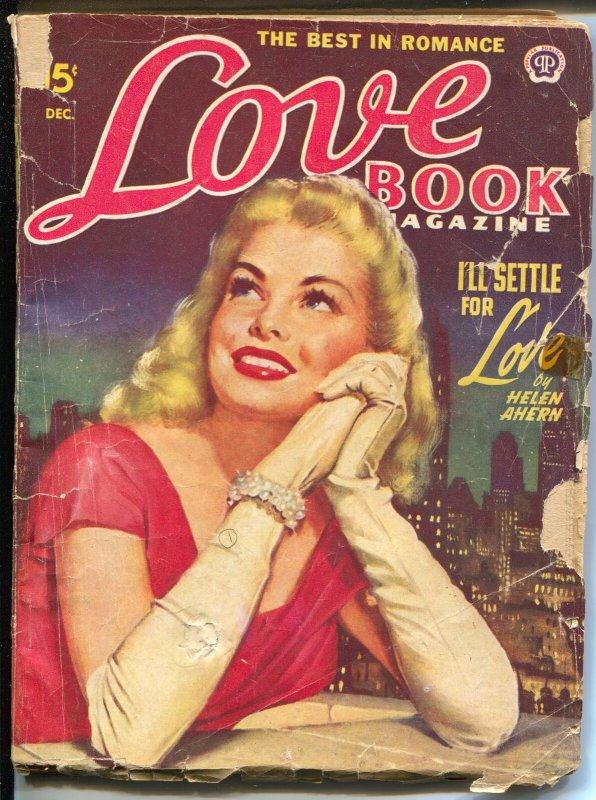 Love Book 12/1949-Popular-pin-up girl cover-Helen Ahern-Alice Warner-G