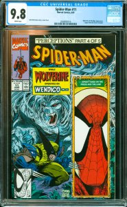 Spider-Man #11 CGC Graded 9.8 Wolverine & Wendigo appearance.